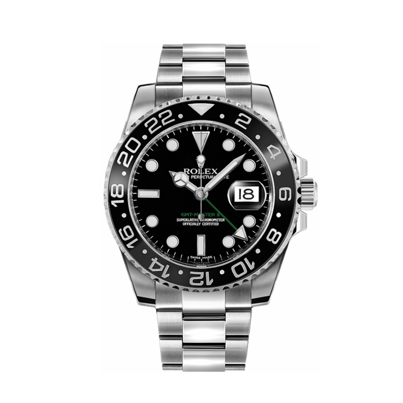 Rolex GMT-Master II 116710LN Montre en acier noir pour homme 40 mm